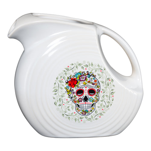 Large Disc Pitcher SKULL AND VINE Sugar