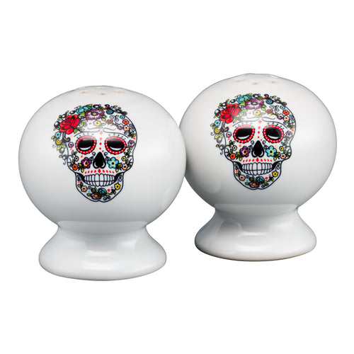 Salt and Pepper Set SKULL AND VINE Sugar