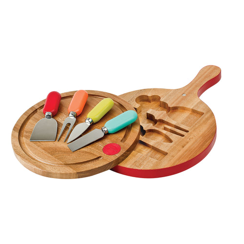 Fiesta® 4 piece Cheese Tool Set with Swivel Board