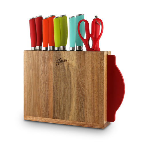 Fiesta® 12 piece Cutlery Set with Knife Block - Solid Colors, Cutlery - Fiesta Factory Direct by Homer Laughlin China.  Dinnerware proudly made in the USA.