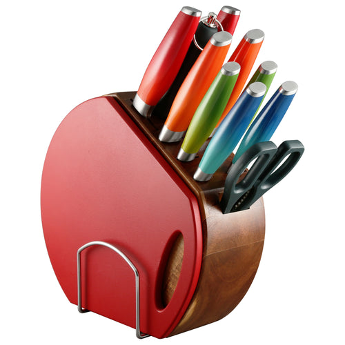 Fiesta® 12 piece Ombre Cutlery Set with Knife Block, Cutlery - Fiesta Factory Direct by Homer Laughlin China.  Dinnerware proudly made in the USA.