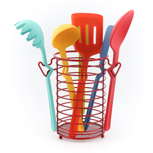 Fiesta® 7 piece Silicone Utensil Set w/Wire Caddy