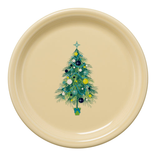 Blue Christmas Tree Bistro Buffet Plate