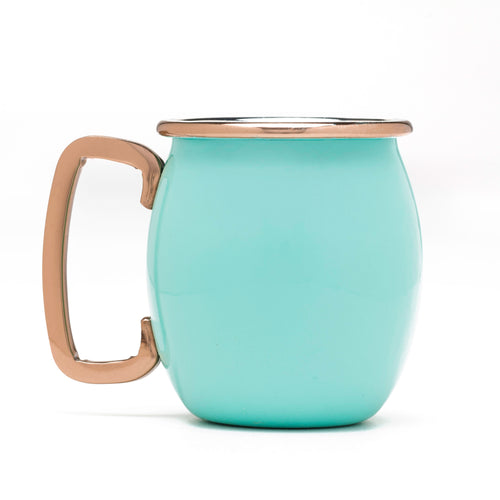 Fiesta® 4 piece Copper Moscow Mule Shots - Turquoise, Bar/Bar Accessories - Fiesta Factory Direct by Homer Laughlin China.  Dinnerware proudly made in the USA.