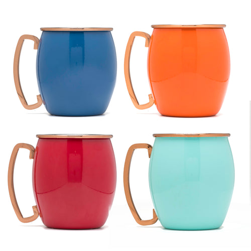Fiesta® 4 piece Copper 18 oz. Moscow Mule Shots - Multicolor