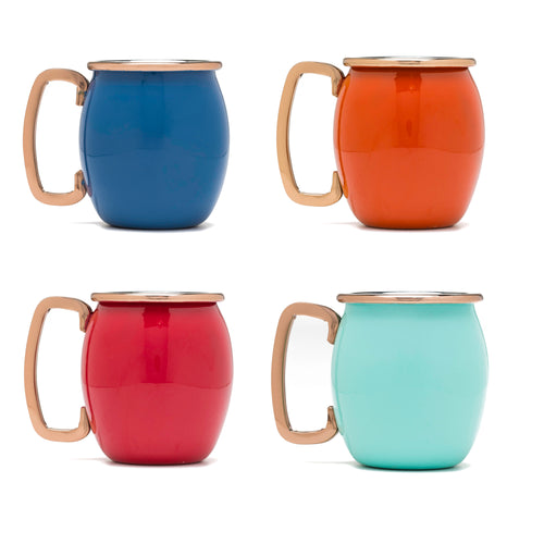 Fiesta® 4 piece Copper Moscow Mule Shots - Multicolor, Bar/Bar Accessories - Fiesta Factory Direct by Homer Laughlin China.  Dinnerware proudly made in the USA.