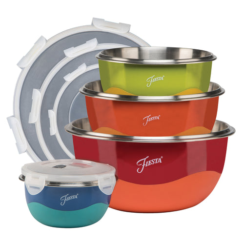 Fiesta® 8 piece Microwave Safe Mixing Bowl Set