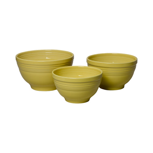 3pc Solid Colored Baking Bowl Set, bowls - Fiesta Factory Direct by Homer Laughlin China.  Dinnerware proudly made in the USA.