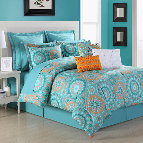 Cozumel Reversible Comforter Set, Bedding - Fiesta Factory Direct by Homer Laughlin China.  Dinnerware proudly made in the USA.