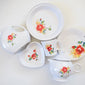 Deep Dish Pie Baker Floral Bouquet, fiesta® Floral Bouquet - Fiesta Factory Direct by Homer Laughlin China.  Dinnerware proudly made in the USA.