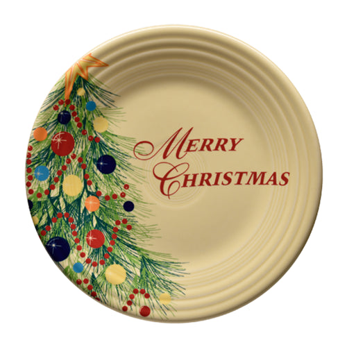 Merry Christmas Luncheon Plate, fiesta® christmas tree - Fiesta Factory Direct by Homer Laughlin China.  Dinnerware proudly made in the USA.