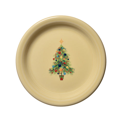 Christmas Tree Appetizer Plate, fiesta® christmas tree - Fiesta Factory Direct by Homer Laughlin China.  Dinnerware proudly made in the USA.