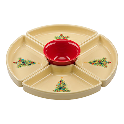 5pc Christmas Tree Entertaining Set, fiesta® christmas tree - Fiesta Factory Direct by Homer Laughlin China.  Dinnerware proudly made in the USA.