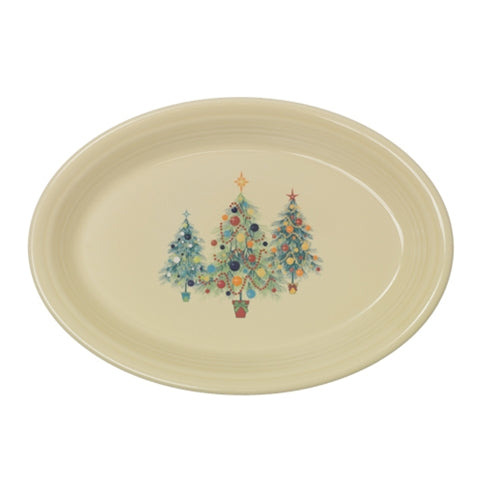 large oval platter christmas trio of trees (458)