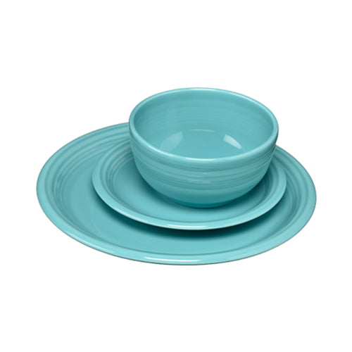 3 Piece Bistro Place Setting Turquoise (1482)