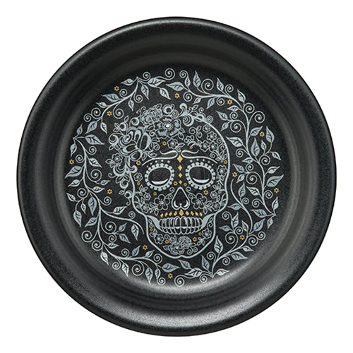 Appetizer Plate SKULL AND VINE - Fiesta Factory Direct
