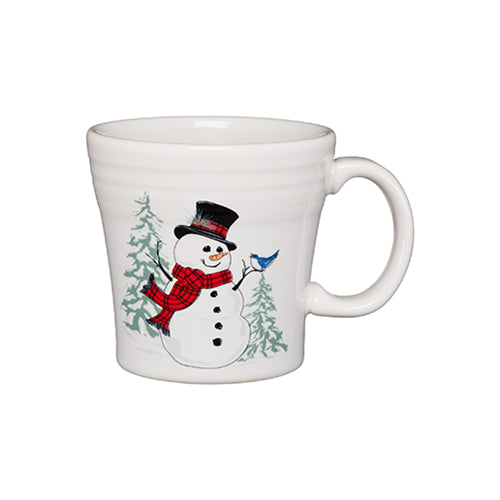 Tapered Mug Snowman, fiesta® Snowman - Fiesta Factory Direct by Homer Laughlin China.  Dinnerware proudly made in the USA.