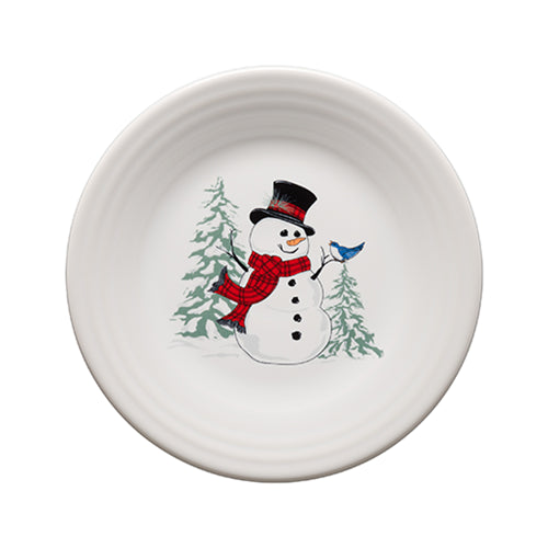 Snowman Luncheon Plate, fiesta® Snowman - Fiesta Factory Direct by Homer Laughlin China.  Dinnerware proudly made in the USA.
