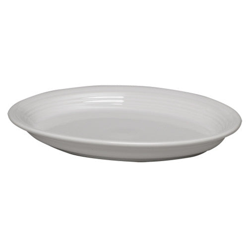 Large Oval Platter White (458)