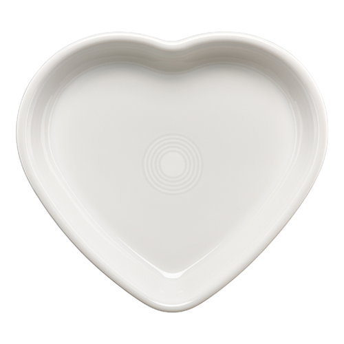 Large Heart Bowl White (1491)