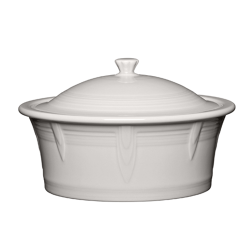 Large Covered Casserole White 90oz. (1466)