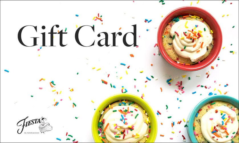 $25 Gift Card, Gift Card - Fiesta Factory Direct by Homer Laughlin China.  Dinnerware proudly made in the USA.