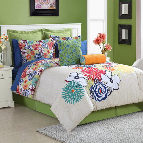 Lucia Reversible Comforter Set, Bedding - Fiesta Factory Direct by Homer Laughlin China.  Dinnerware proudly made in the USA.