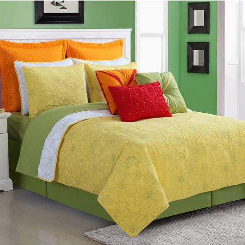 Martika Quilt Set Sunflower, Bedding - Fiesta Factory Direct by Homer Laughlin China.  Dinnerware proudly made in the USA.