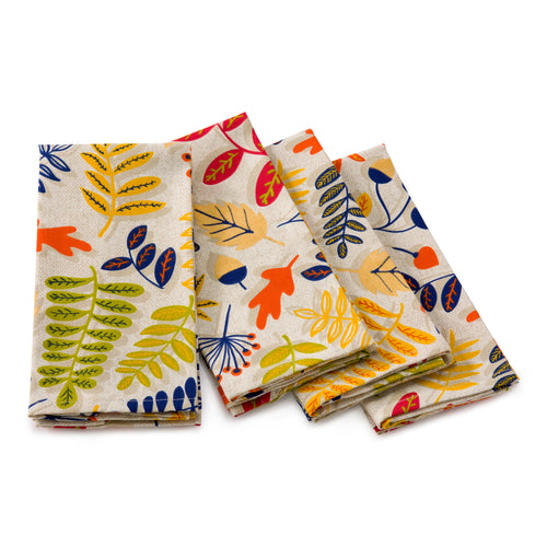 Fall Fest 4 pack Napkins, linens - Fiesta Factory Direct by Homer Laughlin China.  Dinnerware proudly made in the USA.