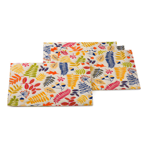 Fall Fest 4 pack Place mats, linens - Fiesta Factory Direct by Homer Laughlin China.  Dinnerware proudly made in the USA.