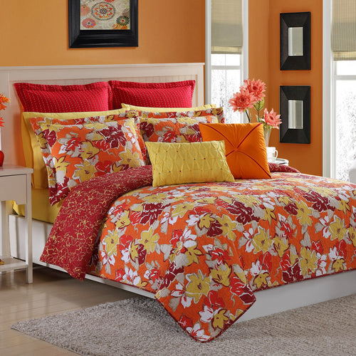 Sedona Quilt Set Poppy, Bedding - Fiesta Factory Direct by Homer Laughlin China.  Dinnerware proudly made in the USA.