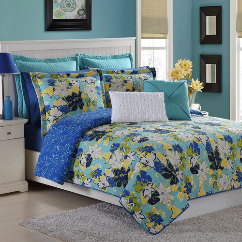 Sedona Quilt Set Lapis, Bedding - Fiesta Factory Direct by Homer Laughlin China.  Dinnerware proudly made in the USA.