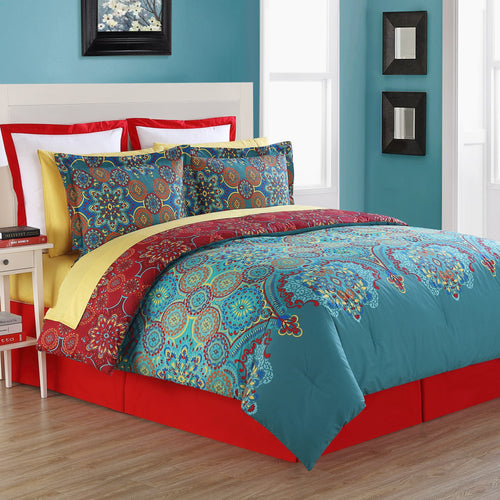 Terra Reversible Comforter Set, Bedding - Fiesta Factory Direct by Homer Laughlin China.  Dinnerware proudly made in the USA.