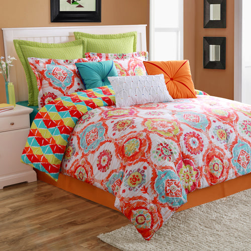 AVA Reversible Comforter Set, Bedding - Fiesta Factory Direct by Homer Laughlin China.  Dinnerware proudly made in the USA.