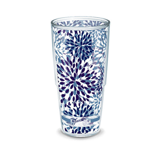 Fiesta® Calypso Lapis 24 oz Tumbler, Tervis Tumbler - Fiesta Factory Direct by Homer Laughlin China.  Dinnerware proudly made in the USA.
