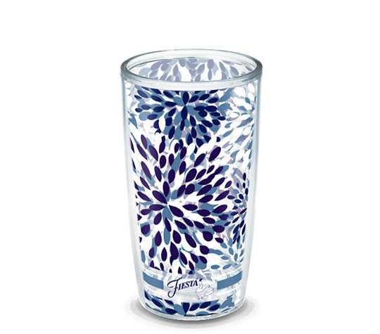 Fiesta® Calypso Lapis 16 oz Tumbler, Tervis Tumbler - Fiesta Factory Direct by Homer Laughlin China.  Dinnerware proudly made in the USA.