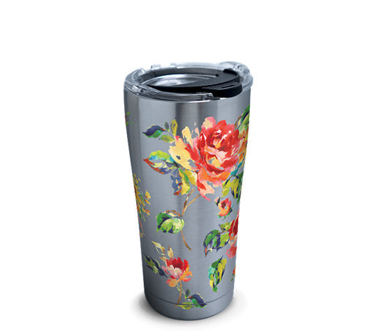Fiesta® Floral Bouquet 20 oz Stainless, Tervis Tumbler - Fiesta Factory Direct by Homer Laughlin China.  Dinnerware proudly made in the USA.