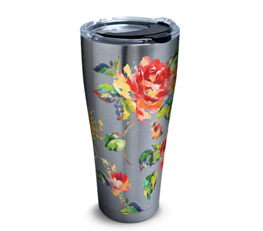 Fiesta® Floral Bouquet 30 oz Stainless, Tervis Tumbler - Fiesta Factory Direct by Homer Laughlin China.  Dinnerware proudly made in the USA.
