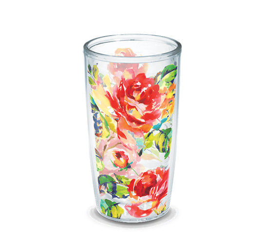Fiesta® Floral Bouquet 16 oz Tumbler, Tervis Tumbler - Fiesta Factory Direct by Homer Laughlin China.  Dinnerware proudly made in the USA.