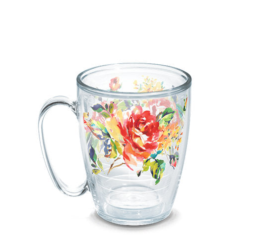 Fiesta® Floral Bouquet Mug, Tervis Tumbler - Fiesta Factory Direct by Homer Laughlin China.  Dinnerware proudly made in the USA.