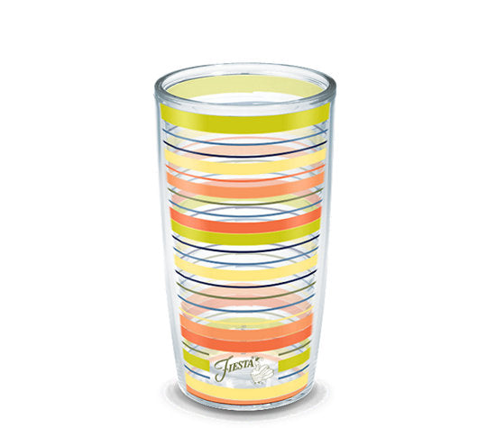 Fiesta® Stripe Fresh Cut 16 oz Tumbler, Tervis Tumbler - Fiesta Factory Direct by Homer Laughlin China.  Dinnerware proudly made in the USA.