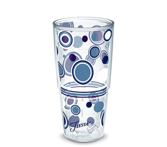 Fiesta® Dots Lapis 24 oz Tumbler, Tervis Tumbler - Fiesta Factory Direct by Homer Laughlin China.  Dinnerware proudly made in the USA.