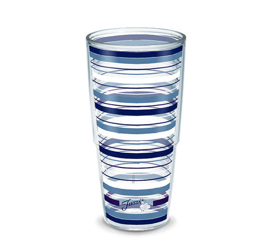 Fiesta® Stripes Lapis 24 oz Tumbler, Tervis Tumbler - Fiesta Factory Direct by Homer Laughlin China.  Dinnerware proudly made in the USA.