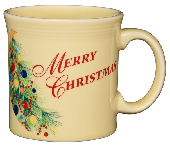 Merry Christmas Java Mug, fiesta® christmas tree - Fiesta Factory Direct by Homer Laughlin China.  Dinnerware proudly made in the USA.