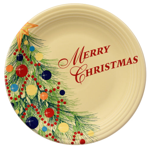 Merry Christmas Plate, fiesta® christmas tree - Fiesta Factory Direct by Homer Laughlin China.  Dinnerware proudly made in the USA.