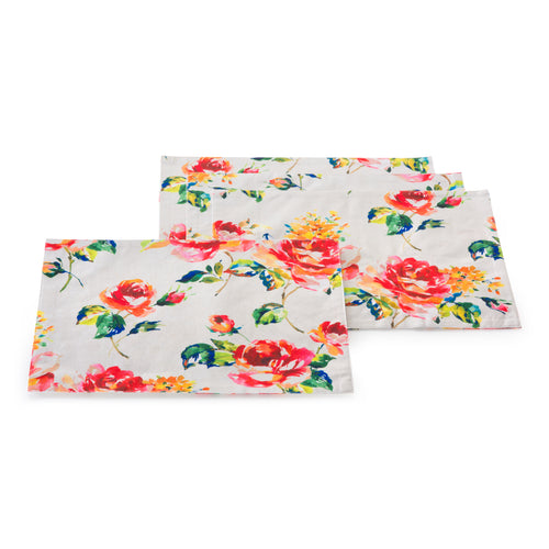Floral Bouquet 4 pack Place mats, linens - Fiesta Factory Direct by Homer Laughlin China.  Dinnerware proudly made in the USA.