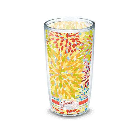 Fiesta® Calypso Poppy 16 oz Tumbler, Tervis Tumbler - Fiesta Factory Direct by Homer Laughlin China.  Dinnerware proudly made in the USA.