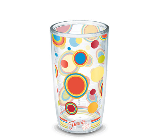 Fiesta® Dots Poppy 16 oz Tumbler, Tervis Tumbler - Fiesta Factory Direct by Homer Laughlin China.  Dinnerware proudly made in the USA.
