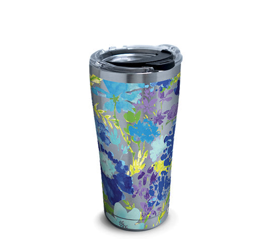 Fiesta® Purple Floral 20 oz Stainless, Tervis Tumbler - Fiesta Factory Direct by Homer Laughlin China.  Dinnerware proudly made in the USA.