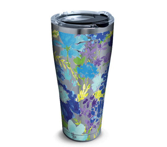 Fiesta® Purple Floral 30 oz Stainless, Tervis Tumbler - Fiesta Factory Direct by Homer Laughlin China.  Dinnerware proudly made in the USA.